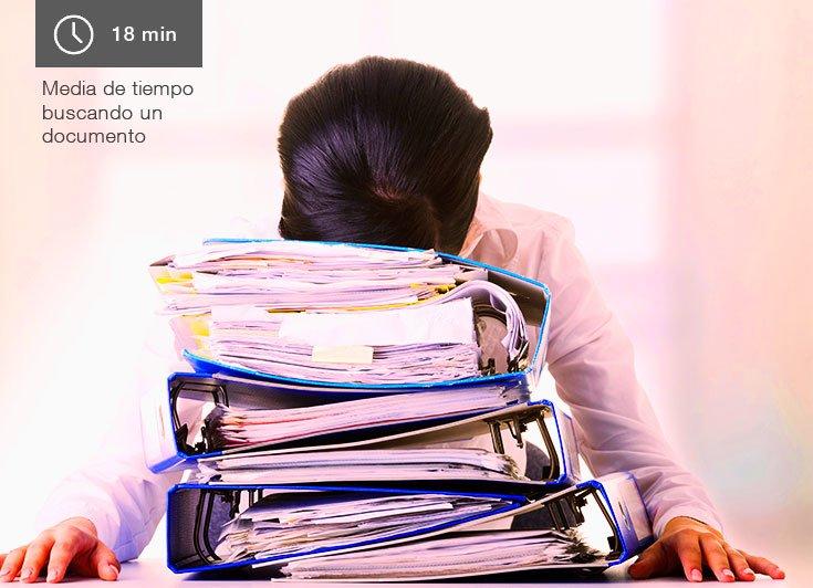 Tiempo buscando papel